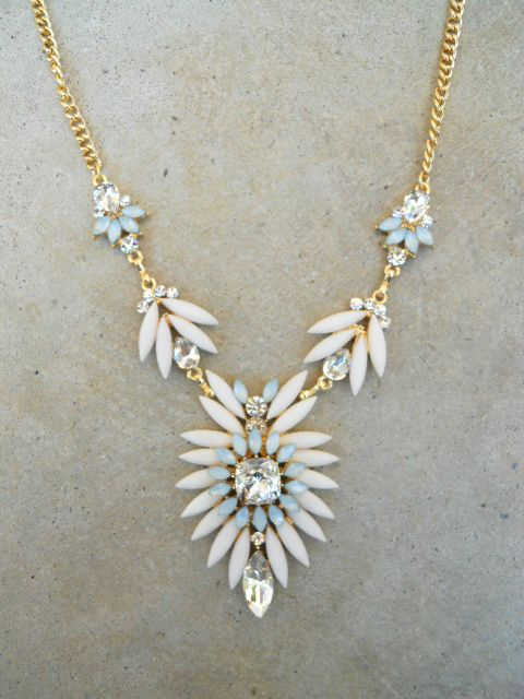 Ivory Thistle & Sparkle Necklace