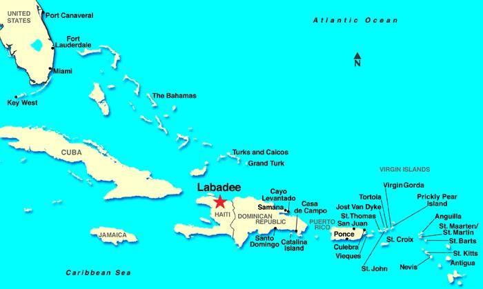 map of where labadee is located north of haiti my love