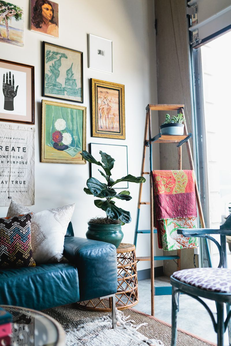 Tour a Bohemian, Vintage-Inspired Office Space in Dallas | Office ...