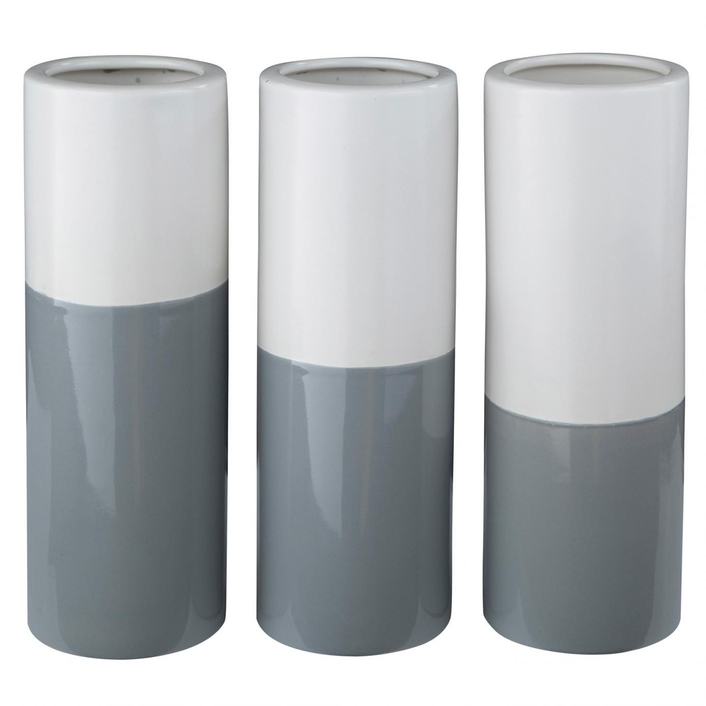 Signature design by ashley dalal gray and white vase set of 3 signature design by ashley dalal gray and white vase set of 3 reviewsmspy