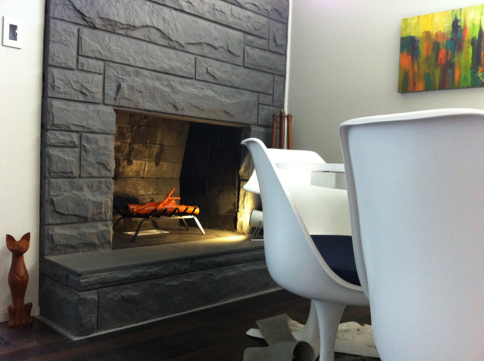 paint our rock fireplace dark gray for the home pinterest