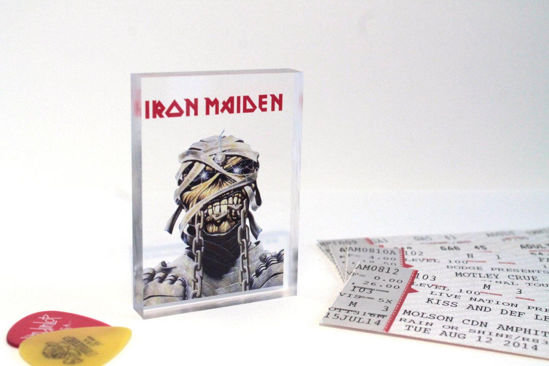 Iron Maiden \'Eddie\' Clear Printed Acrylic Token - Gift Ideas ...