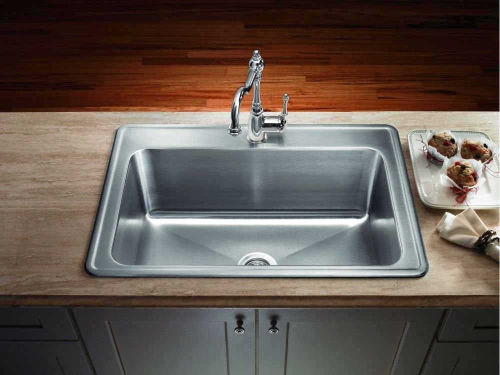 Gorgeous Stainless Steel Drop In Kitchen Single Bowl Sinks From Types And Models Awesome Kitchen Sink Sinks Kitchen Stainless Clean Stainless Sink Kitchen Sink