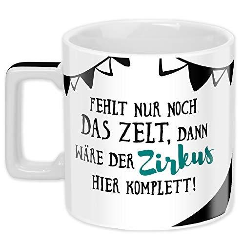 Sheepworld Wortheld-Tasse 45922, Kaffee-Tasse mit Spruch Zirkus, Porzellan, 45 cl, schwarz-weiß ,  #KaffeeTasse #mit #Porzellan #schwarzweiß #Sheepworld #spruch #WortheldTasse #Zirkus