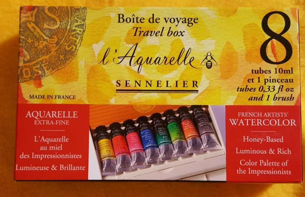 Sennelier Aquarelle Extra Fine Boite Bijou En Metal 12 Demi