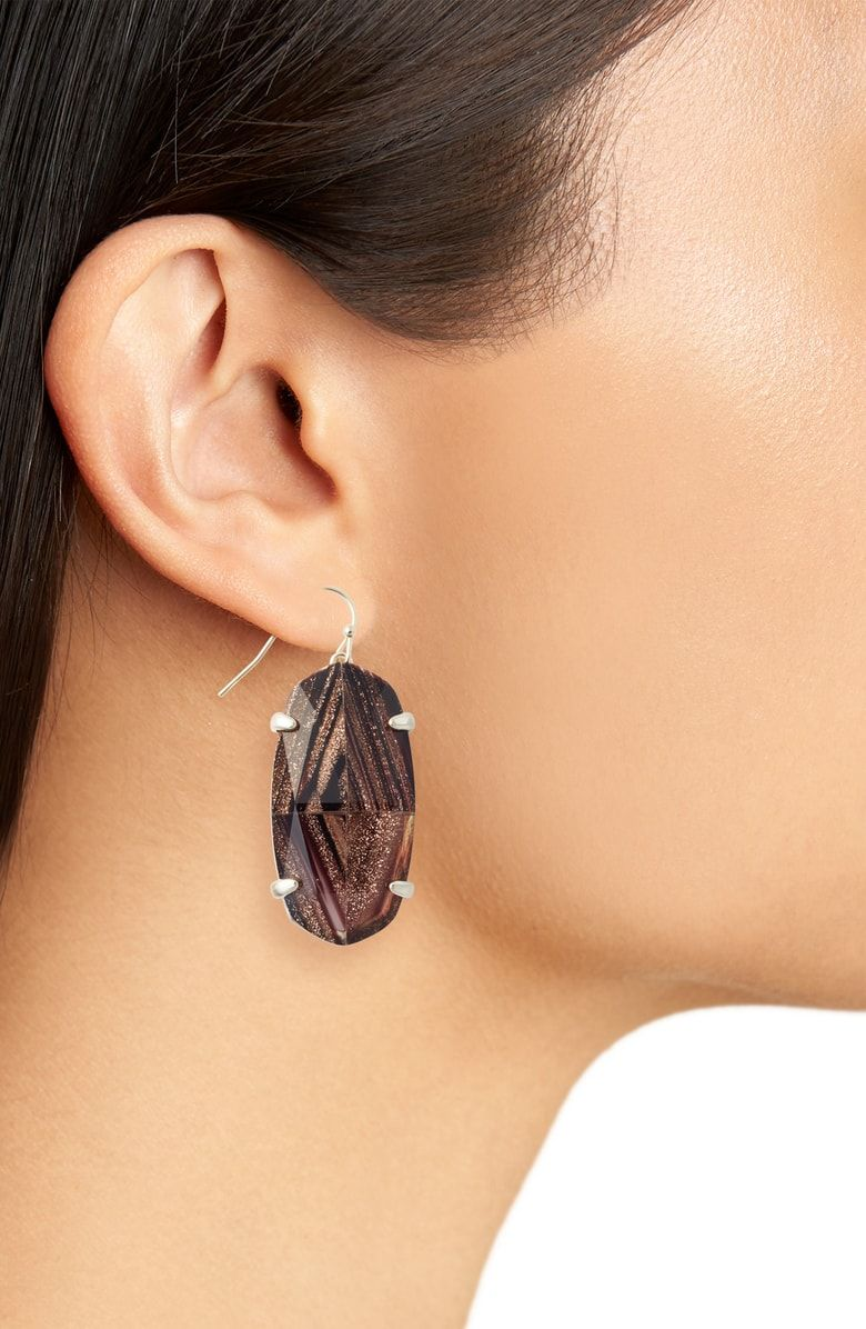 9ac21c62b Esme Drop Earrings, Alternate, color, Brown Dusted Glass/ Gold ...