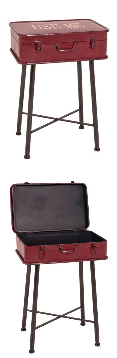 Vintage Beistelltisch Im Koffer Design Mit Laden Funktion