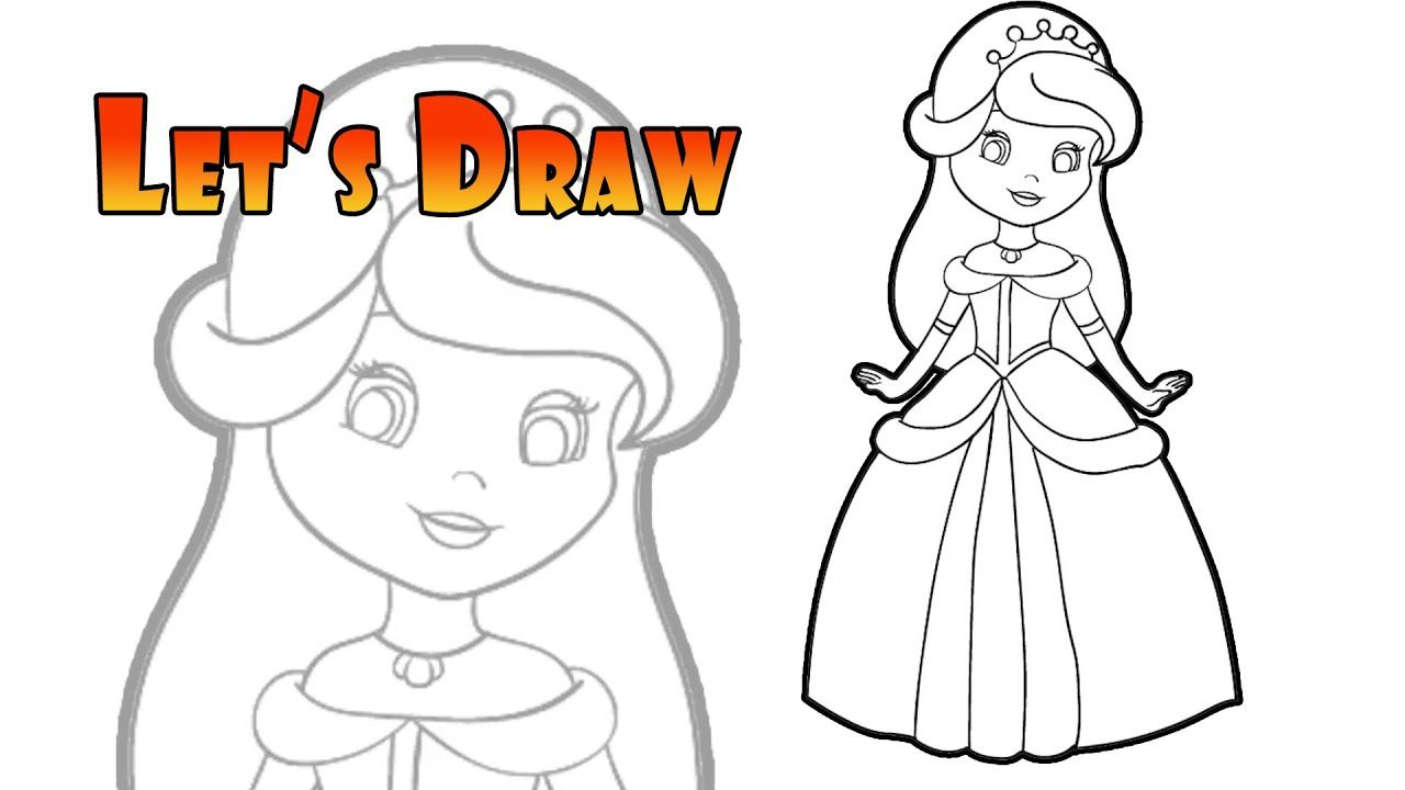 How To Draw A Cute Princess Disney Princess Coloring Pages Princess Coloring Pages Disney Princess Colors Princess Coloring