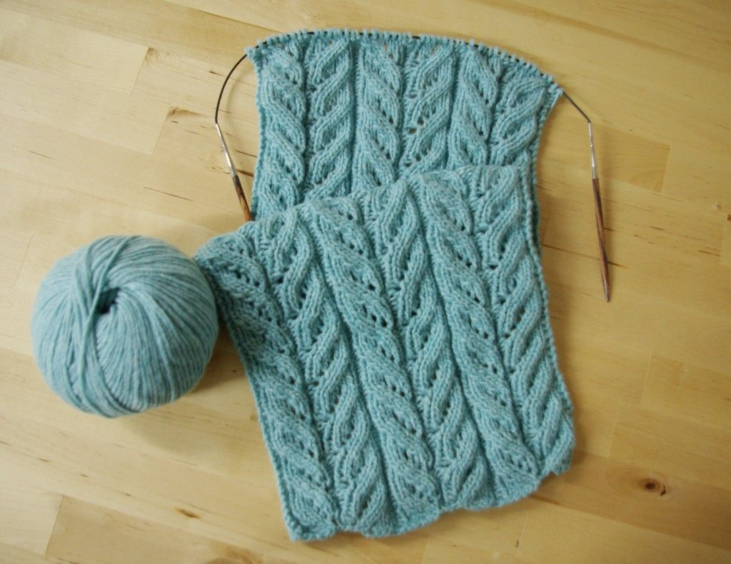 Stricken Schal Lochmuster Ajourmuster Stricken Pinterest