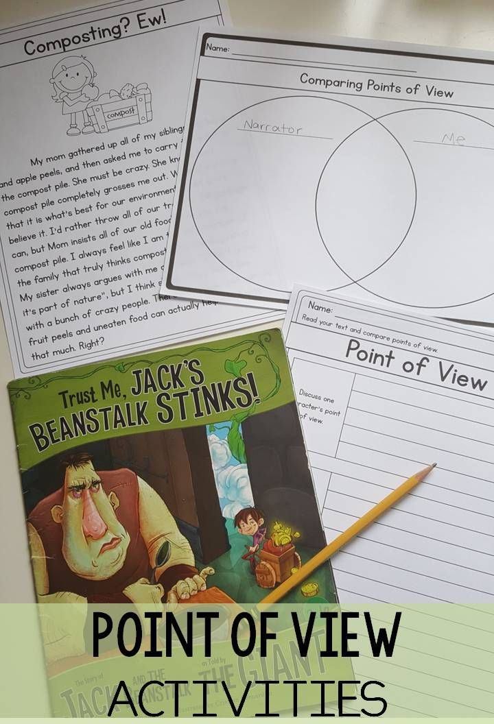 Point Of View Rl3 6 Reading Activities Third Grade