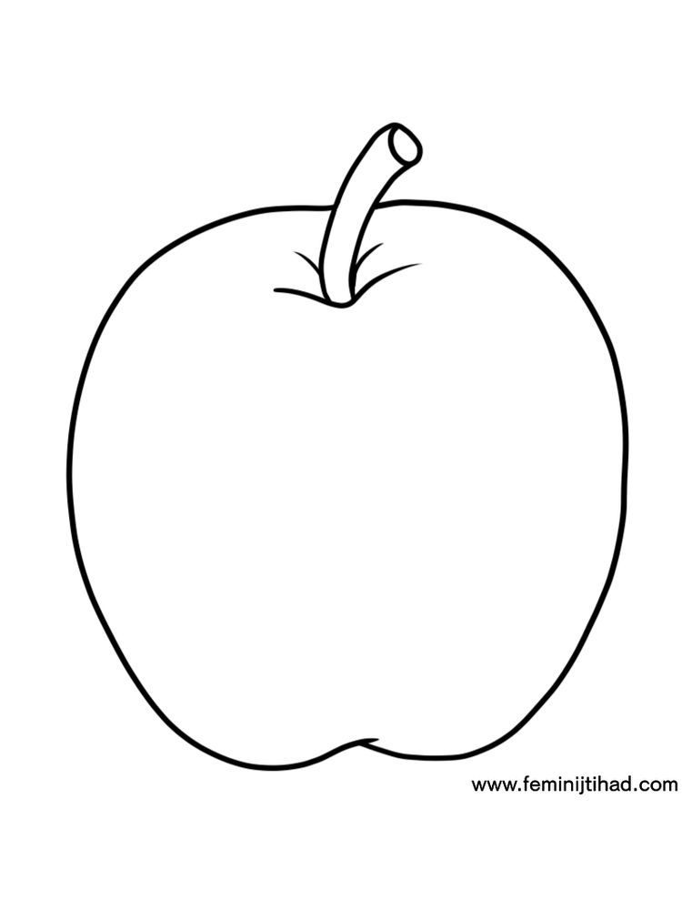 Apple Coloring Page Free Apple Coloring Pages Apple Coloring Fruit Coloring Pages