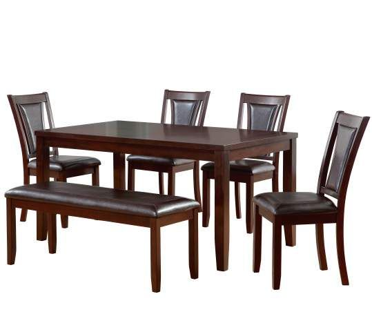 Brilliant Harlow 6 Piece Padded Dining Set With Bench New House Unemploymentrelief Wooden Chair Designs For Living Room Unemploymentrelieforg