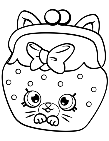 Petkins Cat Snout Shopkin Målarbok | Delines fylla i teckningar ...