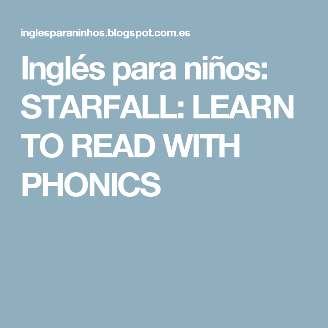 ingls para nios starfall learn to read with phonics
