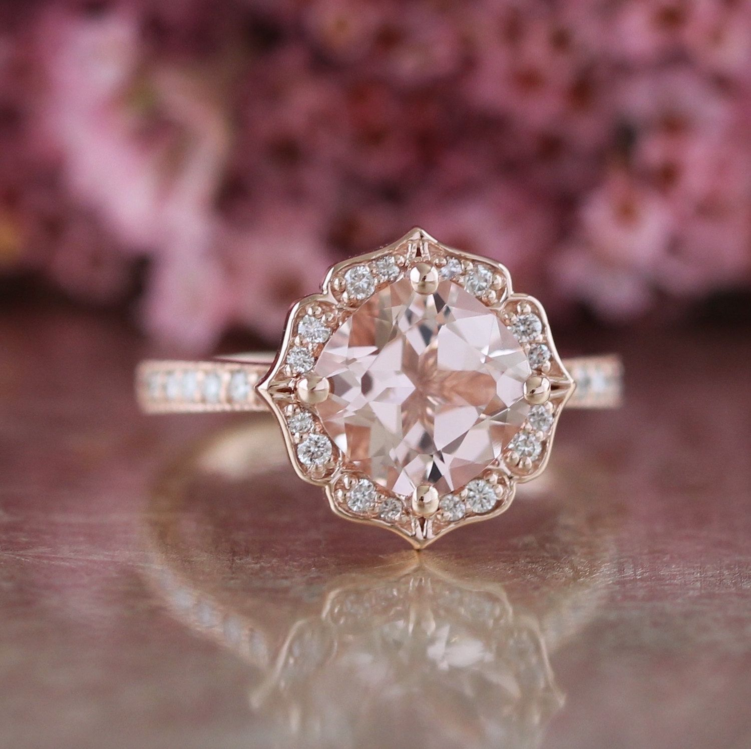 Morganite Rose Setting Design Clothes Pinterest Ring And