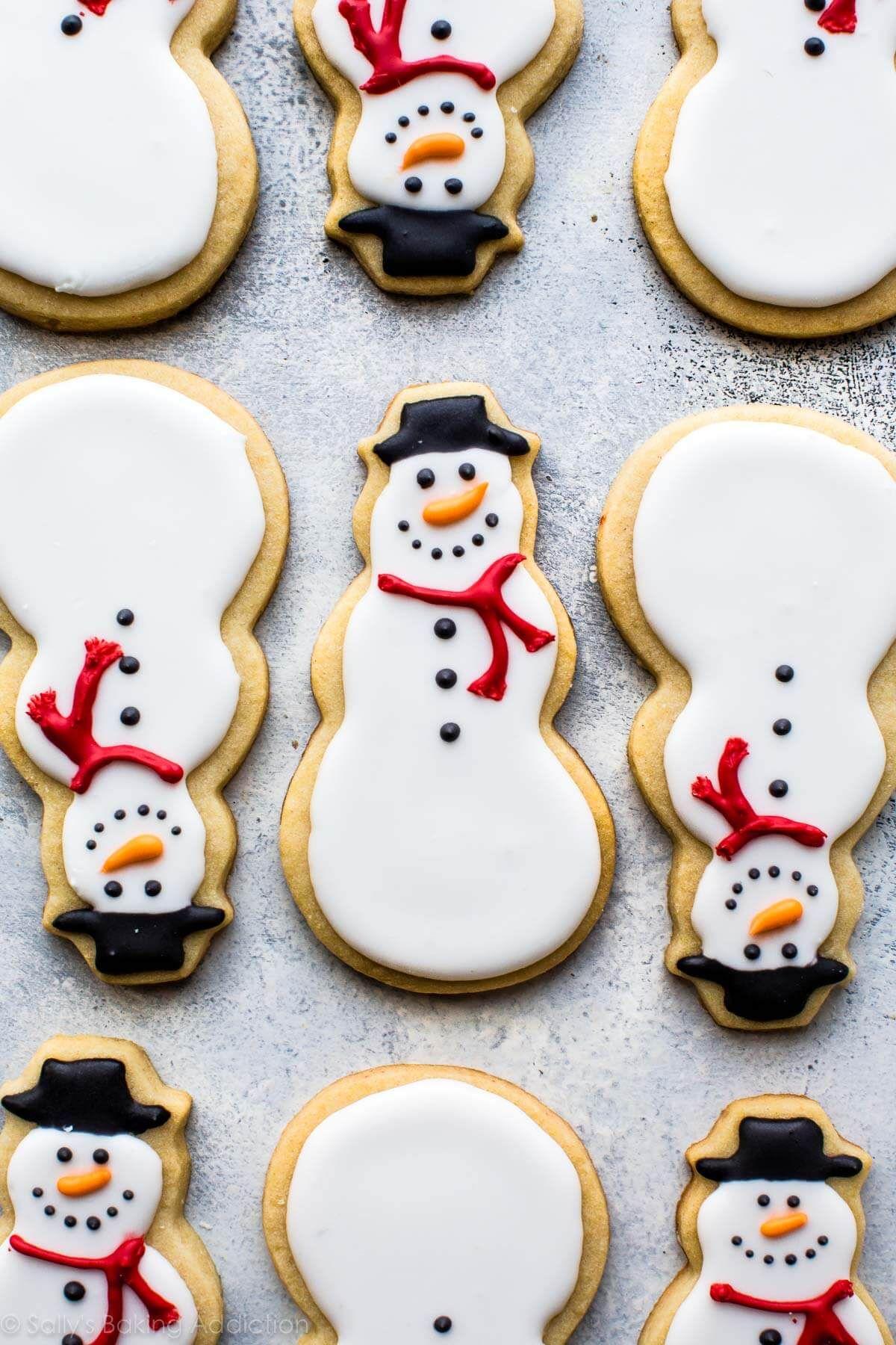 Snowman Sugar Cookies Christmas Christmas Cookie Icing Sugar