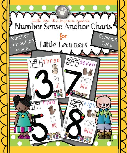 Little Bird Kindergarten: Number Sense Anchor Charts