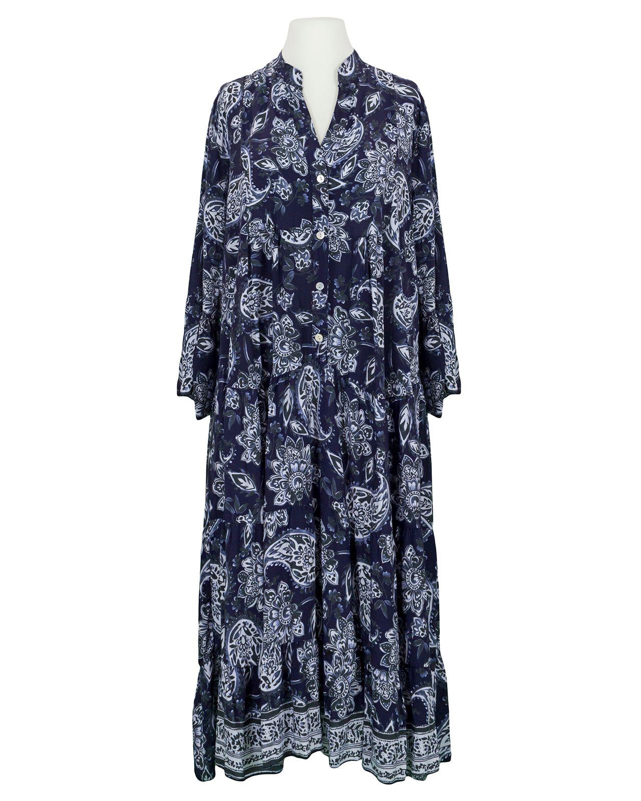Kleid A Linie Floral Blau Von H Trend Bei Meinkleidchen Kaufen Italienische Kleider Kleider Modestil