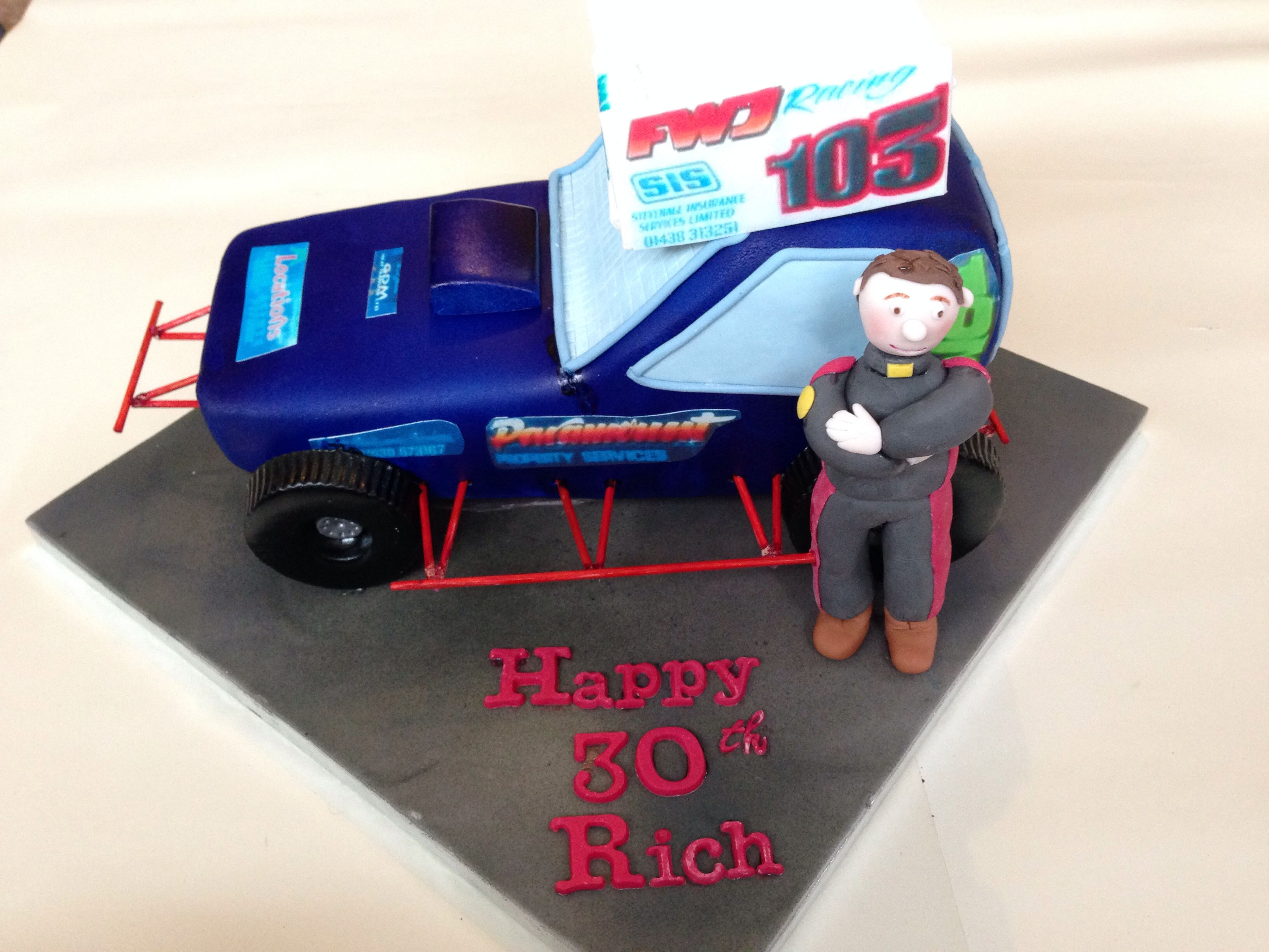 Stock Car Cake Mollies board Pinterest Car cakes and Cake