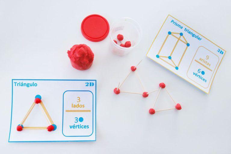 Construcción De Un Prisma Triangular Con Palillos Y Plastilina Manualidades Educativas Figuras Geometricas Para Niños Figuras Y Cuerpos Geometricos