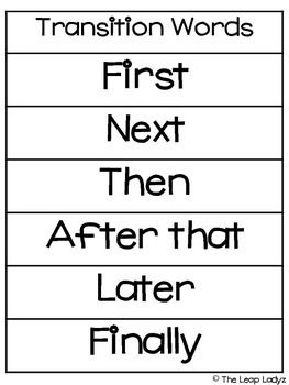 Transition Words Posters Transition Words Word Poster Words