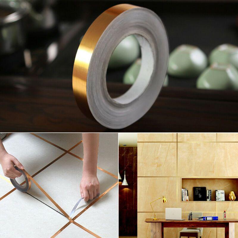 Self Adhesive PVC Tile Sticker Seam Line Home Floor Bathroom Decor Waterproof