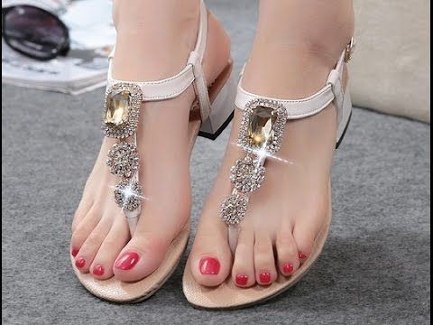 00e04d2155c Beautiful Ladies Flat Sandals Collection 2017