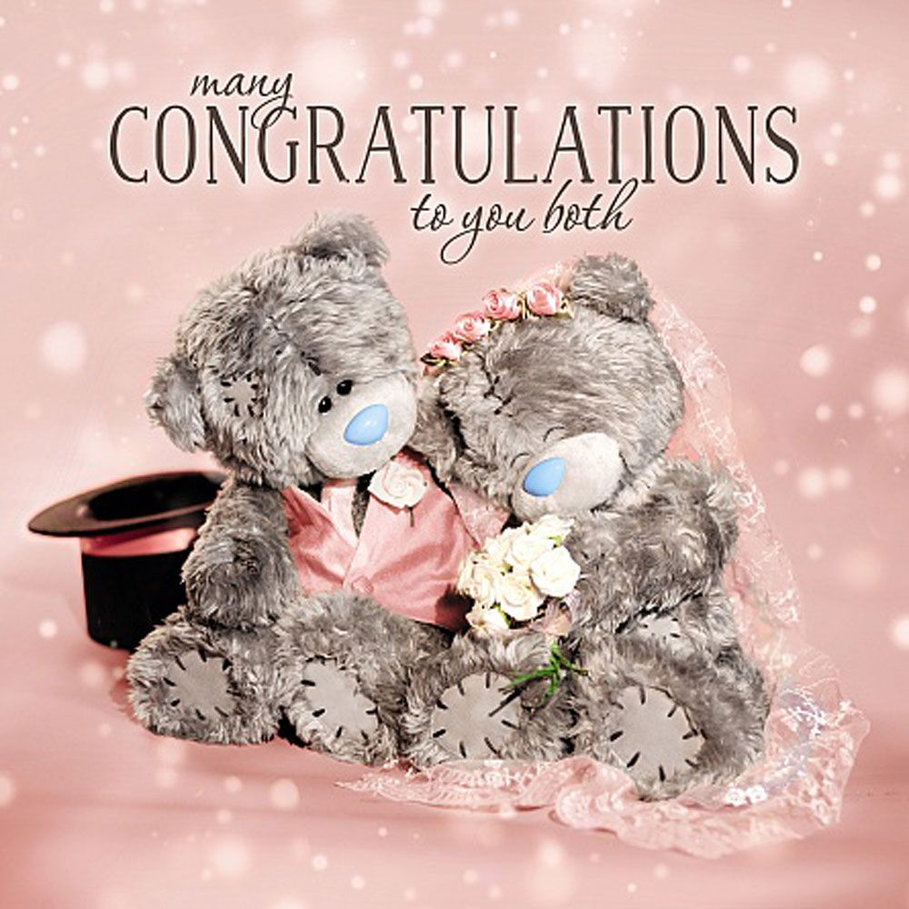 3d Holographic Congratulations To You Both Wedding Me To You Bear Card Tatty Teddy Teddy Teddy Bear Pictures