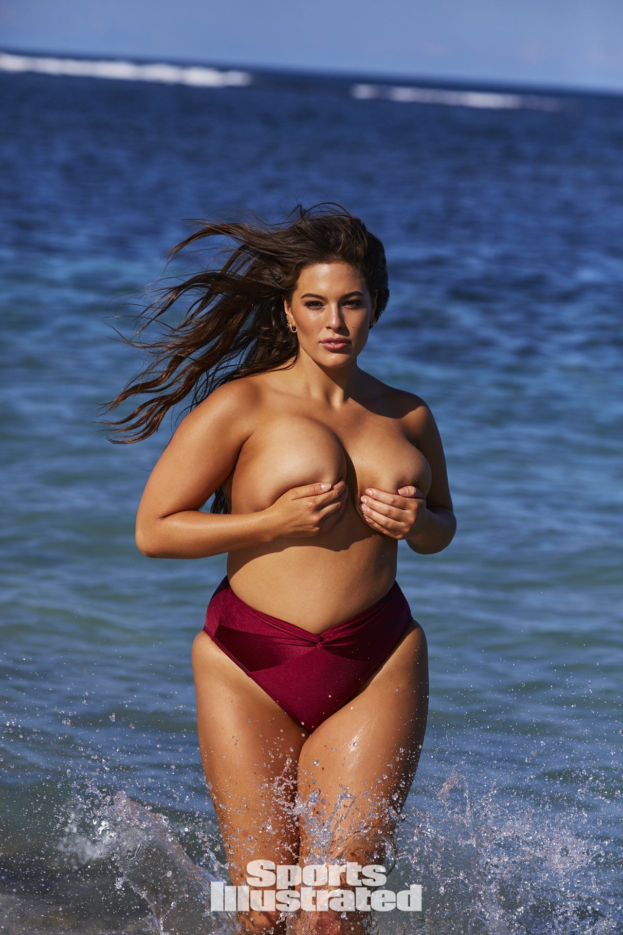 44c87cd6d2c4a Ashley Graham was photographed by Josie Clough in Nevis. Swimsuit by  Swimsuits for All x Ashley Graham.