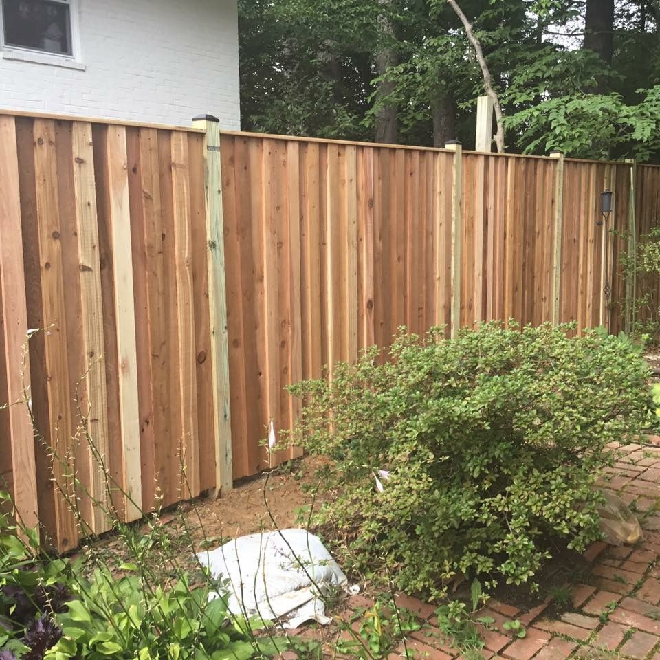 Cedar Board And Batten Privacy Fence Wood Privacy Fence 6ft
