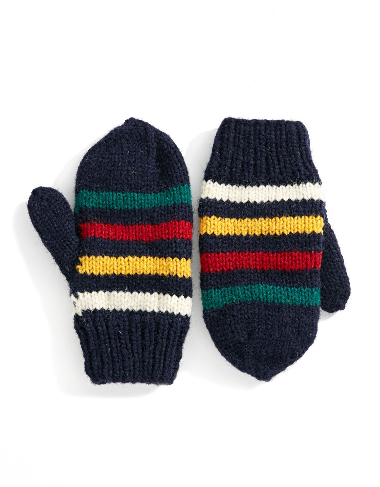 Hudsons bay company hbc navy multi stripe hand knit wool hudsons bay company hbc navy multi stripe hand knit wool mittens size sm bankloansurffo Image collections