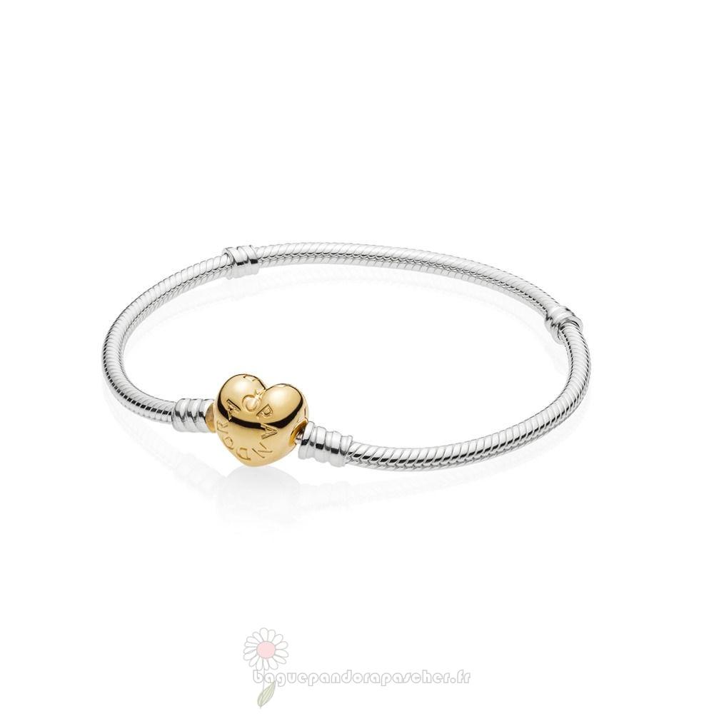bracelet pandora argent avec coeur