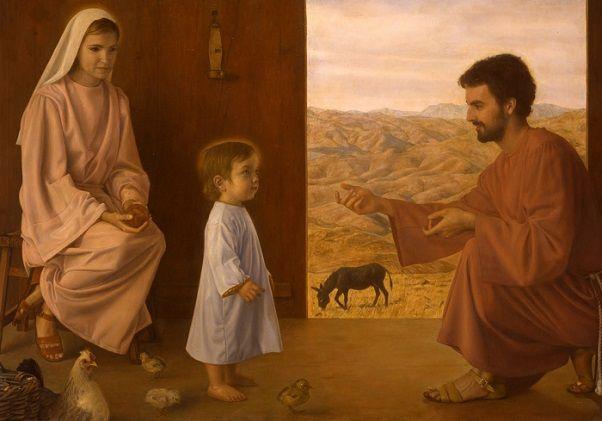 Resultado de imagen para María primeros pasos de Jesús