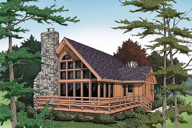 Cabin Style House Plan 3 Beds 3 Baths 1814 Sq Ft Plan 456 10 Lake House Plans Cabin House Plans Modern Style House Plans