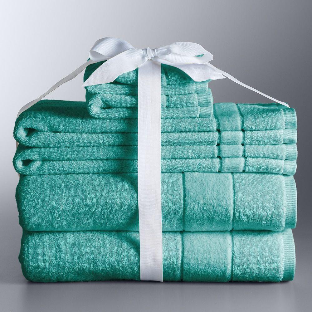 Simply Vera Vera Wang 6 Piece Turkish Cotton Bath Towel Set Blue