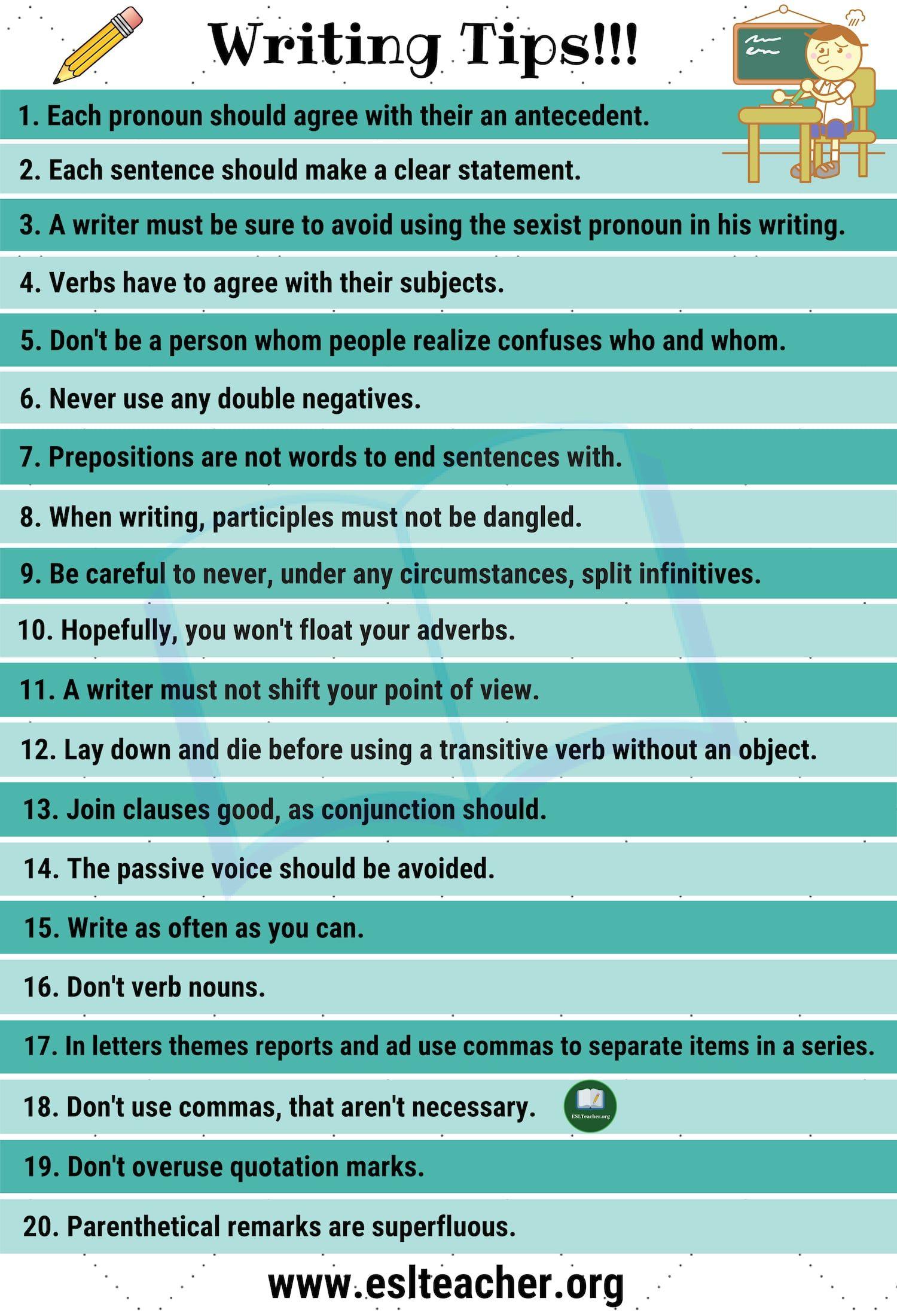 English writing help