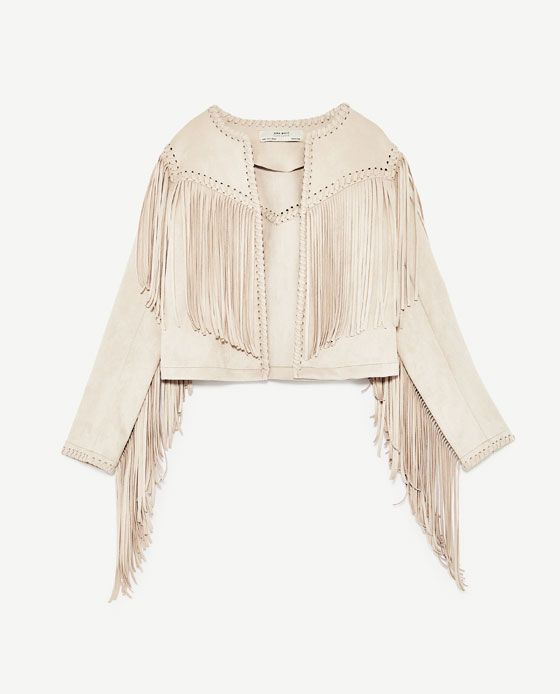 44ae09c3a39 Image 8 of FAUX SUEDE JACKET WITH FRINGE from Zara