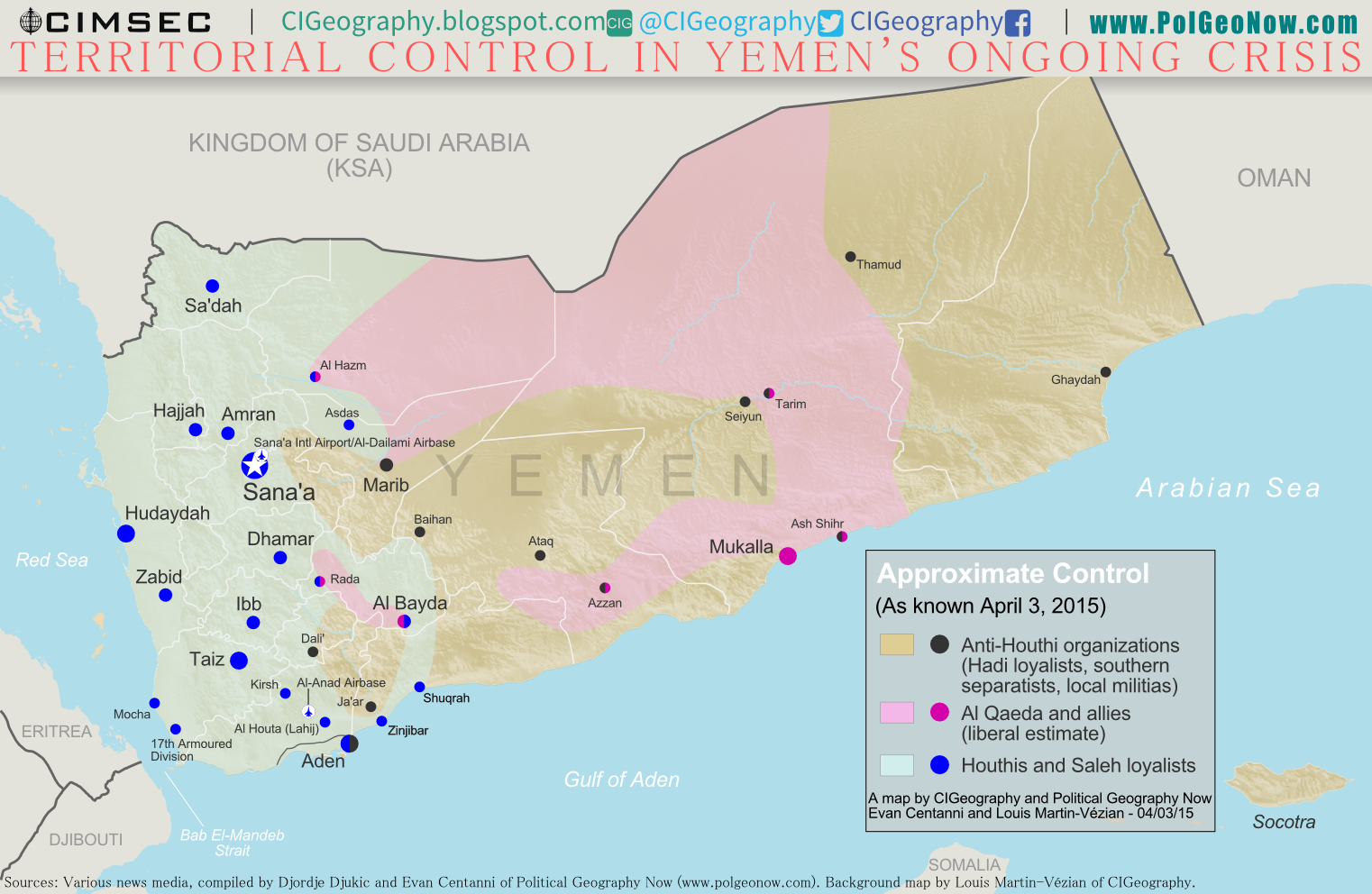 Recently the Republic of Yemen has collapsed in a violent three way