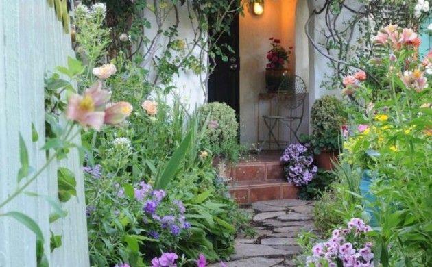 Garten Gestaltung Gartenweg Blumen Kleiner Garten