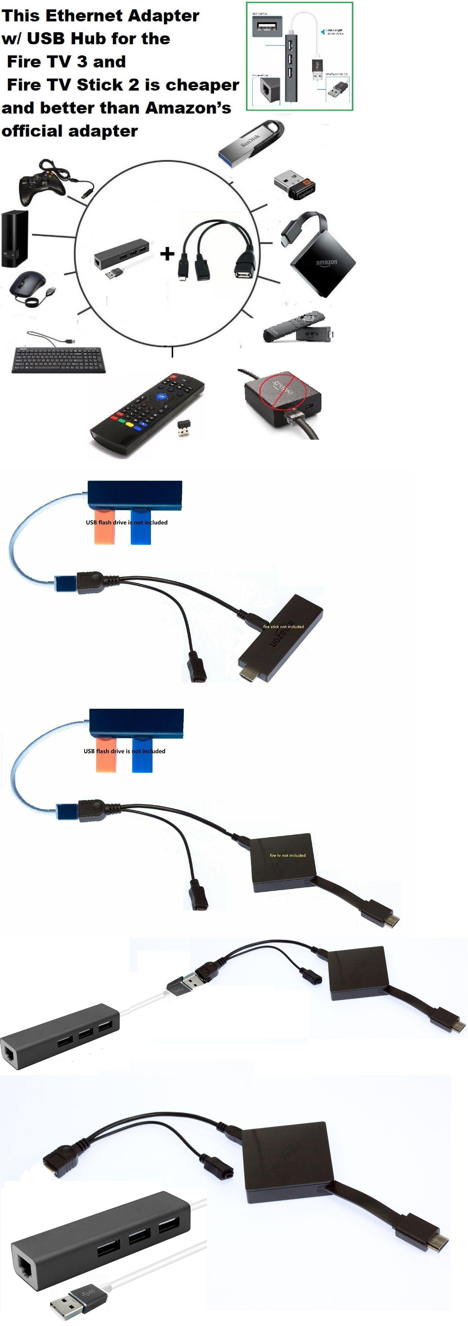 3 Port Usb Hub Lan Ethernet Connector Amp Otg Adapter For