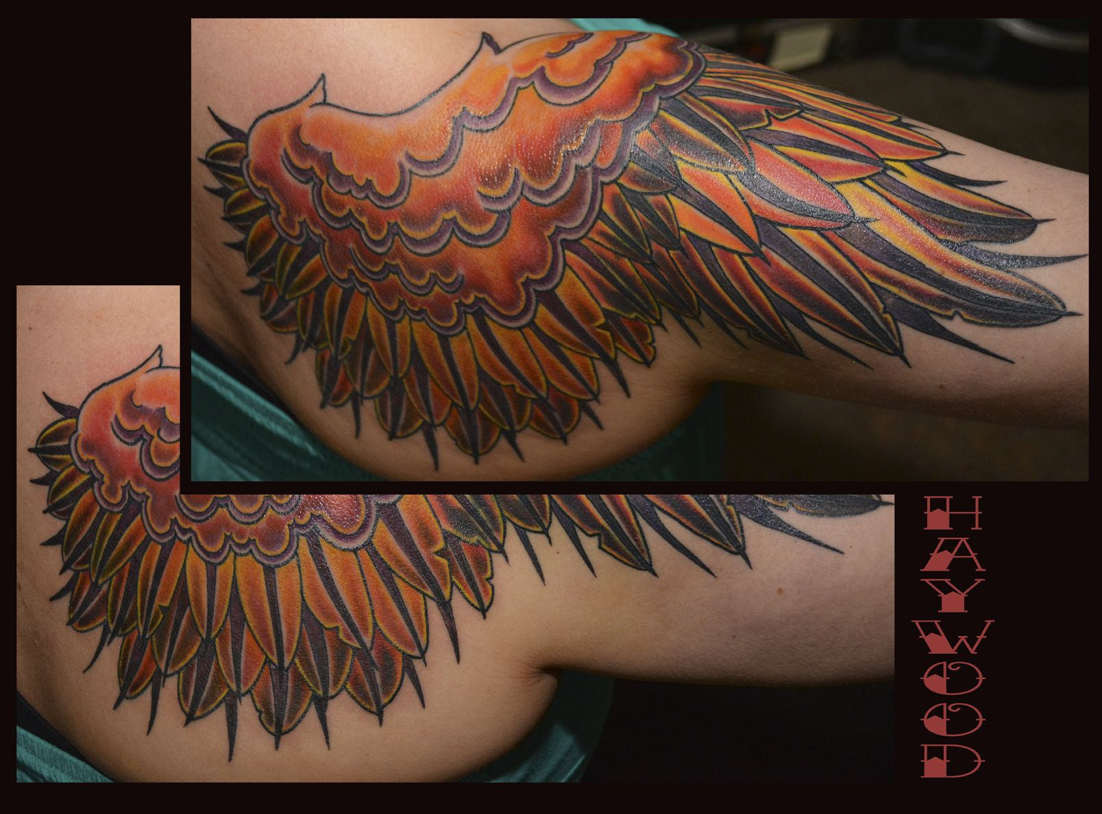 c679490c3 Wing tattoo (Right side cover-up) | Tattoos by Haywood | Tribal ...