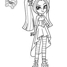 sonata duskthis my little pony equestria girl is one of the backup singer for the band dazzlings color sonata dusk online or print to color at home - My Little Pony Equestria Girl Coloring Pages