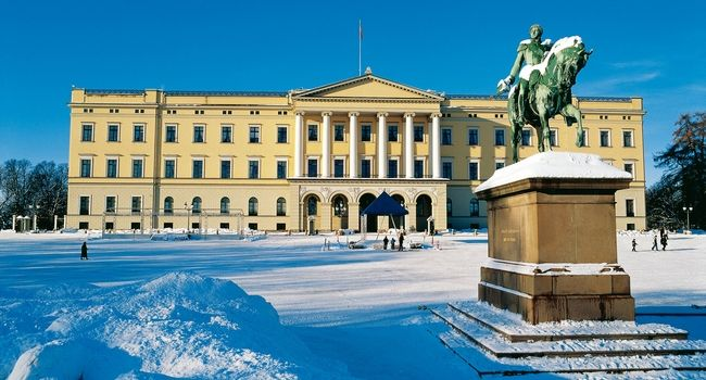 Image result for oslo royal palace winter