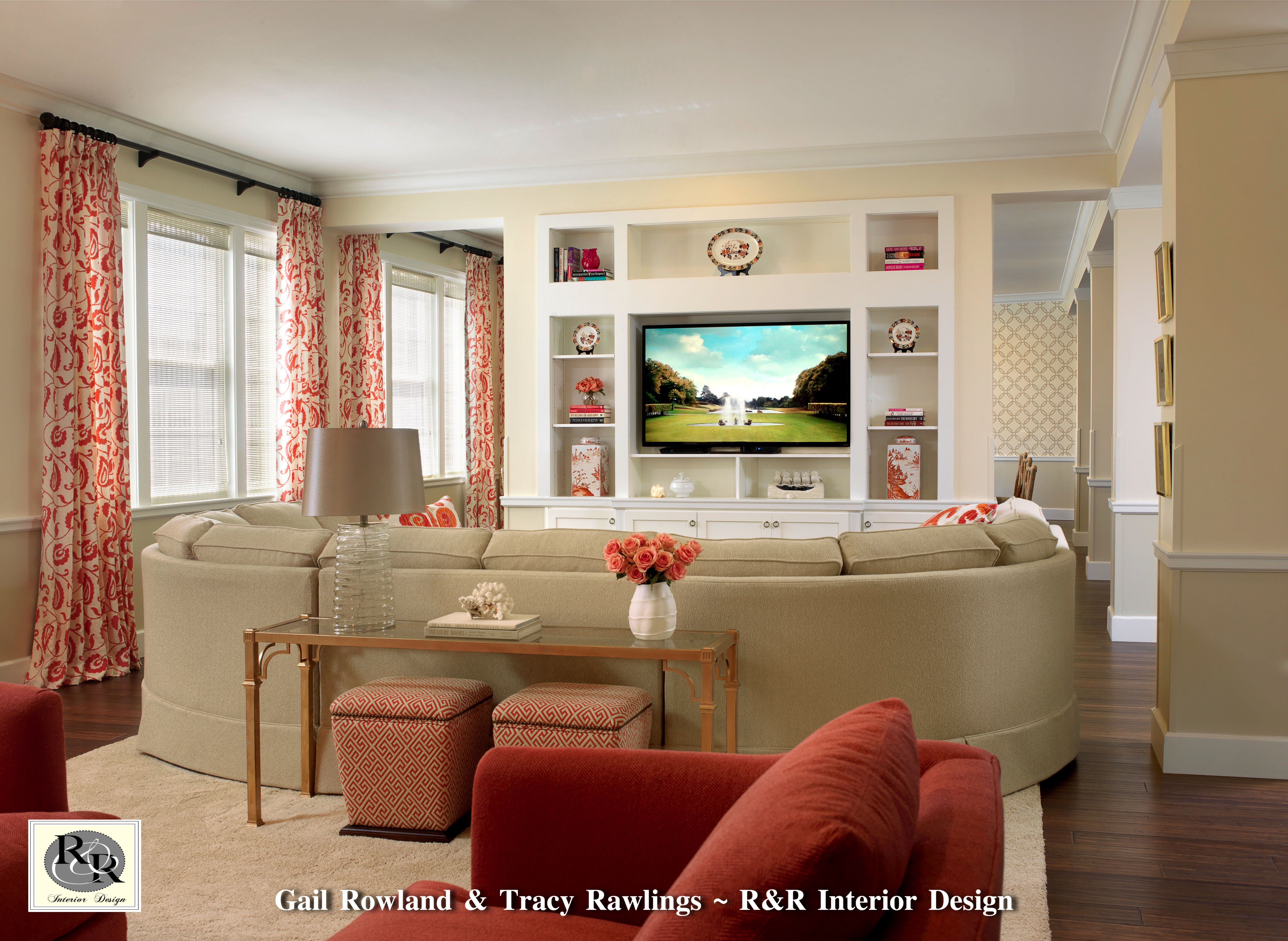 Tv Lounge For The Beautiful New Chi Omega Sorority House At The