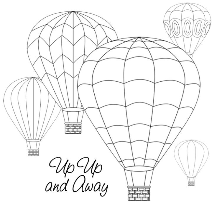 up up and away Embroidery Hei luftballon Bastelb cher