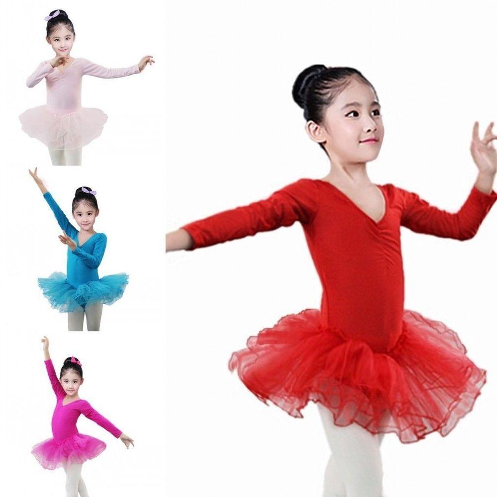 Girls Ballet Tutu Skirt Skating Dress Dance Costume Leotard Dancewear Unitards