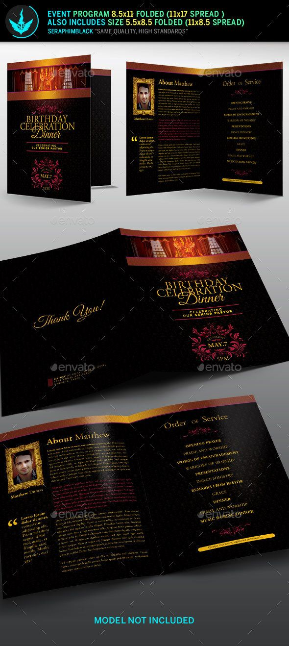 Royal Birthday Celebration Event Program Template  Program