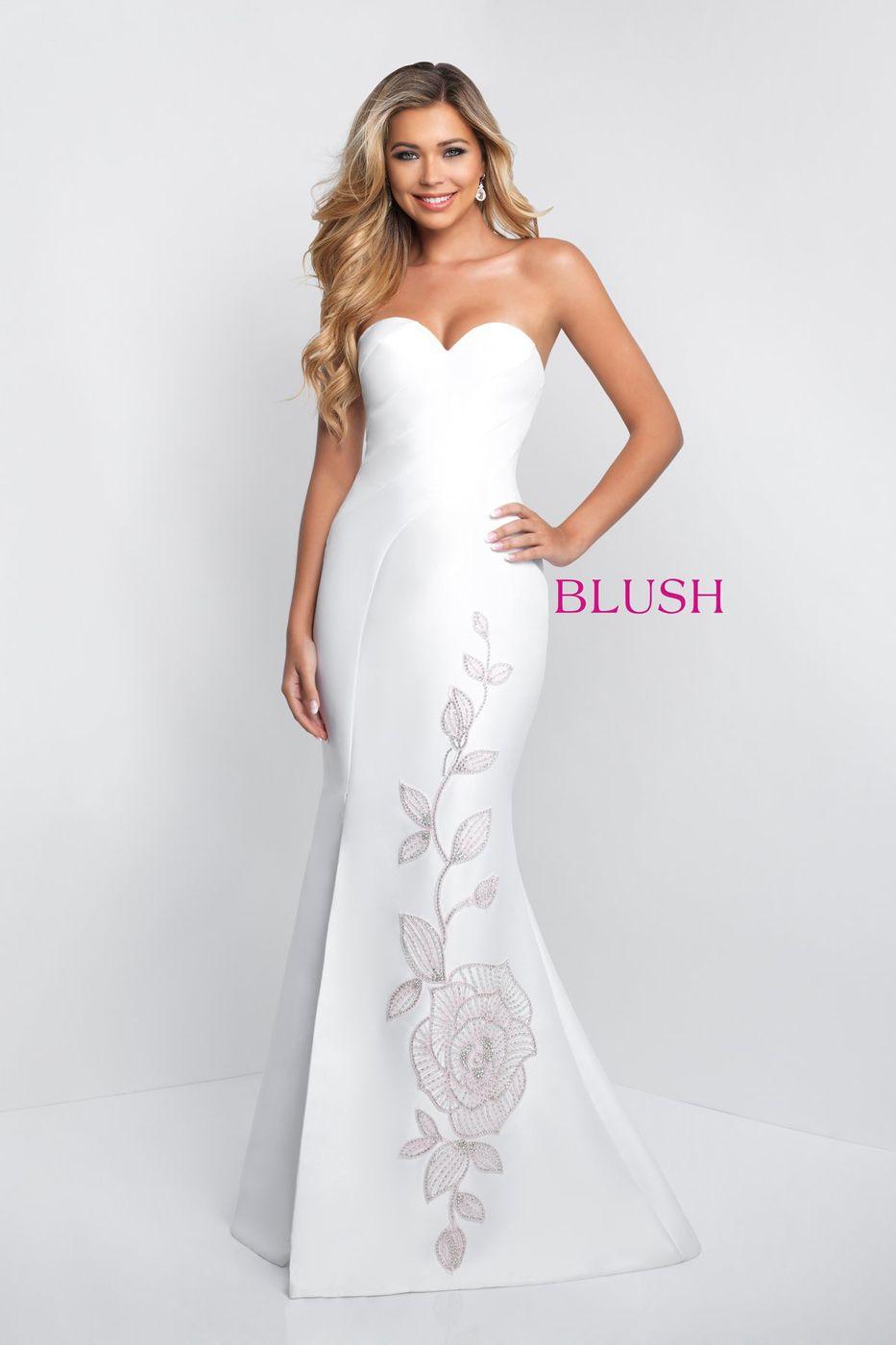 Blush c strapless formal gown pinterest mermaid skirt black