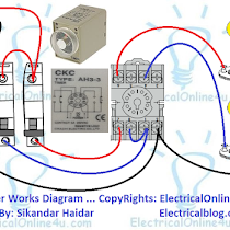 Star Delta Starter Wiring Diagram 3 Phase With Timer Electrical Online 4u Electrical Circuit Diagram Electrical Diagram Electrical Projects