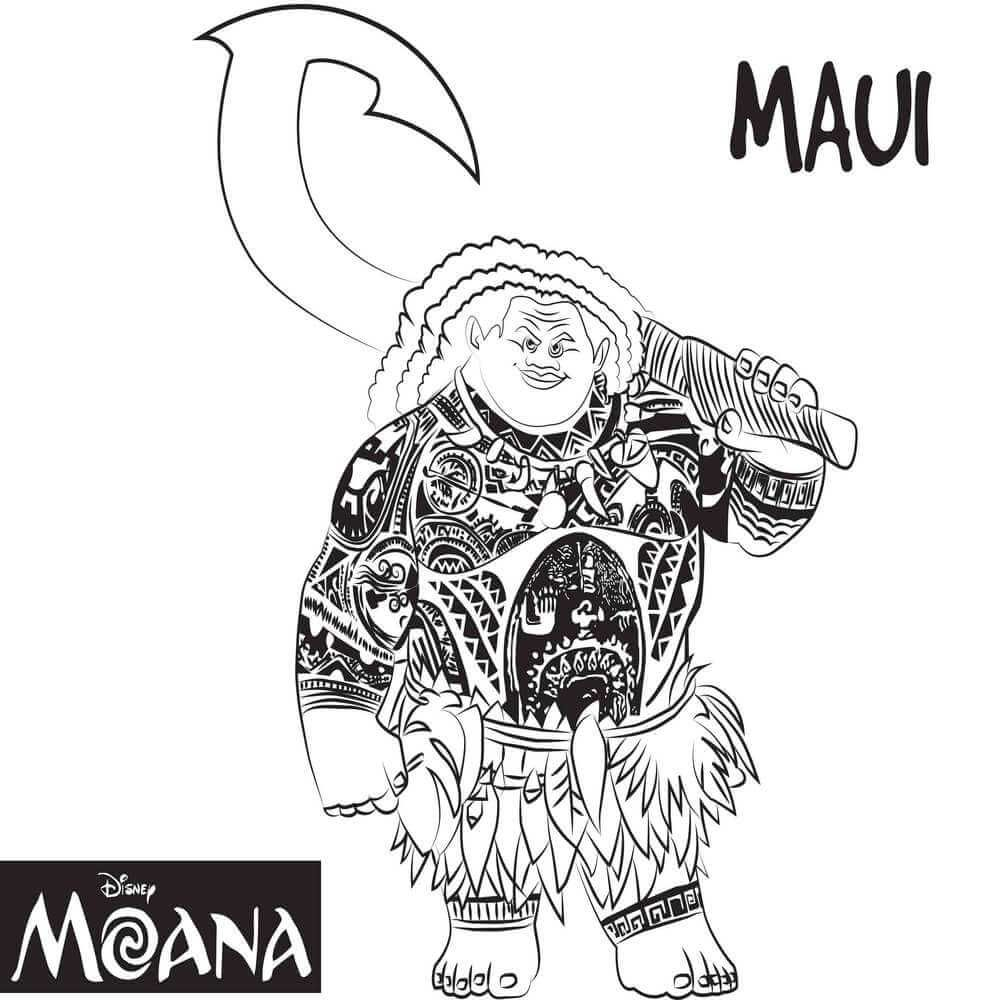 Top 10 Moana Coloring Pages Free Printables Moana, Free